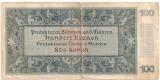 BOHEMIA SI MORAVIA 100 COROANE KORUN 1940 U - CEHOSLOVACIA SUB OCUPATIE GERMANA