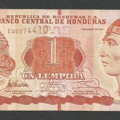 HONDURAS 1 LEMPIRA 2012 [1] P-96a, VF - bancnota america