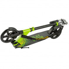 Trotineta adulti, Playshion KS-008A, 200 mm suspensie fata, Electric Green Black Wheels