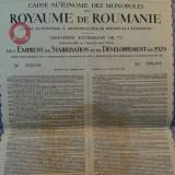 2552 Franci Aur Obligatiune  la purtator Romania 1929