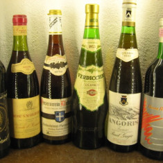6 sticle vin -VECHI DE COLECTIE - LOT ( NO) recoltare 1973/73/75/75/82/92 - Vinde Colectie, Aroma: Sec, Sortiment: Rosu, Zona: Europa