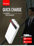 Baterie Externa Quick Charge 3.0  Yoobao M20Q 20000mAh White, 20000 mAh