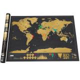 Harta lumii razuibila Am fost acolo Deluxe Edition cadou inedit (Travel Map)