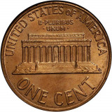 SUA/USA 1 cent (Lincoln) 1960 _ UNC , luciu batere, America de Nord, Alama