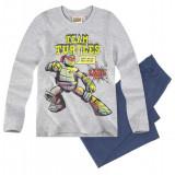 Pijama cu maneca lunga Ninja Turtles gri/albastru denim