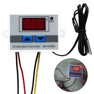 Controler temperatura+senzor+ termostat, alimentare 220V, nou foto