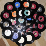 "Vinyl/vinil discuri mici,decor single 7"",ornament camera,pictat ceas 2 lei buc"
