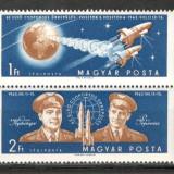 Ungaria.1962 Cosmonautica-Vostok 3 si 4 dantelate SU.130.1 - Timbre straine, Nestampilat