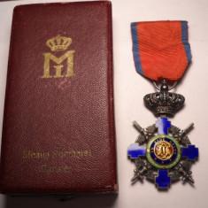 Ordinul Steaua Romaniei Cavaler Militar la cutie Piesa de Colectie