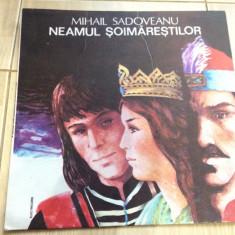 Neamul soimarestilor mihail sadoveanu disc vinyl lp poveste pt copii dramatizare - Muzica pentru copii electrecord, VINIL