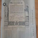 Renta Romana 1929 Unificata 4% Amortibila 500 Franci Aur (cu cupoane)