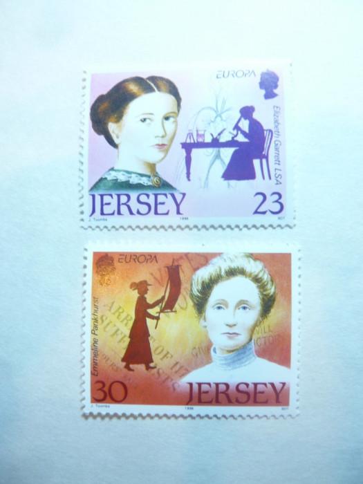Serie Europa CEPT 1996 Femei celebre  -Jersey 2 valori
