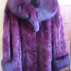 Vand haina de blana din picioruse de nurca culoare grena