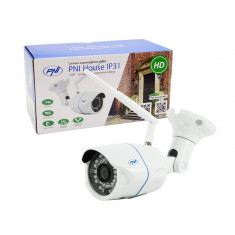 Resigilat : Camera supraveghere video PNI House IP31 1MP 720P wireless cu IP de ex
