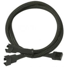 Cablu Y pentru ventilatoare PWM Nanoxia 4 pini, 30 cm, negru