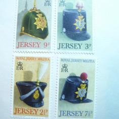 Serie Caschete- Royal Jersey Militia 1972 Jersey , 4 valori