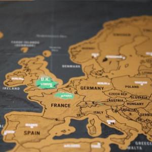 Harta razuibila Am fost acolo Deluxe Edition cadou inedit (Travel Map)