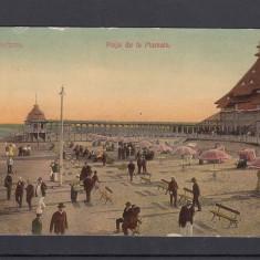 CONSTANTA PLAJA DE LA MAMAIA CIRCULATA 1909 - Carte Postala Dobrogea 1904-1918, Necirculata, Printata