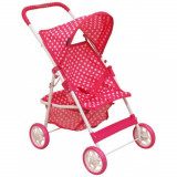 Carucior pentru papusi Spotted Pink Baby Mix