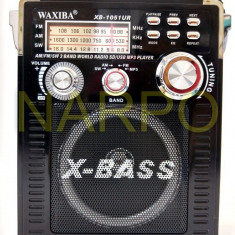 Radio MP3 USB FM AM SW card WAXIBA XB-1051UR cu acumulator - Aparat radio, Analog, 0-40 W