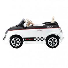 FIAT 500 12V WHITE/BLACK - Masinuta electrica copii