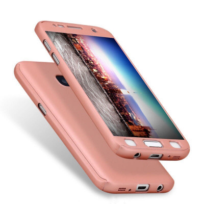 Husa Samsung Galaxy S7 Edge Fata Spate 360 Rose Gold foto
