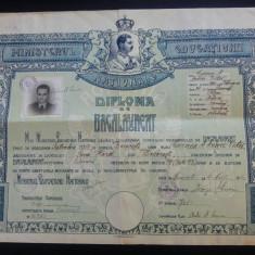 Diploma de bacalaureat/ 1940, Regele Carol al II-lea, liceul Spiru Haret - Diploma/Certificat