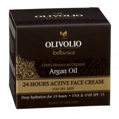Olivolio Crema de fata cu Ulei de argan 24 Hours Active
