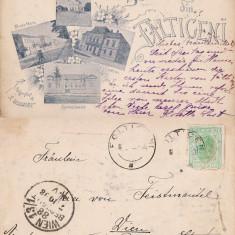 Falticeni (Suceava, Bucovina)-Colaj, Spitalul israelit-iudaica, 1898, clasica, rara - Carte Postala Bucovina pana la 1904, Circulata, Printata