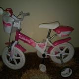 Bicicleta Fetita Hello Kitty cu roti ajutătoare - Bicicleta copii, 15 inch, 14 inch, Numar viteze: 1
