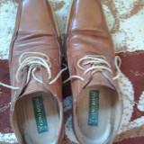 Pantofi piele naturala - Pantofi barbat Giovanni Rosmini, Marime: 40, Culoare: Maro