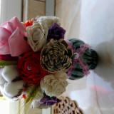 Vand buchete de flori rezistente rustice, buchete de mireasa, lumânări