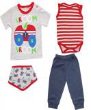 Costum pentru bebelusi model cu masinute HB154