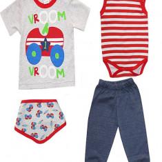 Costum pentru bebelusi model cu masinute HB154, Marime: 1-3 luni