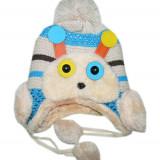 Caciula tricotata cu model albinuta