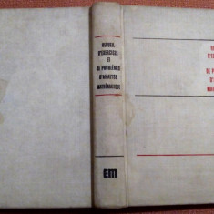 Recueil D'Exercices Et De Problemes D'Analyse Mathematique - B. Demidovitch, Alta editura