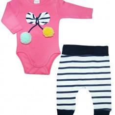 Set bebelusi cu body si pantaloni, Marime: 1-3 luni, 3-6 luni