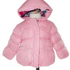 Geaca roz de iarna pentru fete