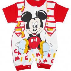 Salopeta bebelusi rosie cu Mickey Mouse COD HB141