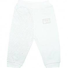 Pantaloni albi din bumbac pentru bebelusi HB336, Marime: 1-3 luni, 3-6 luni, 6-9 luni