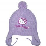 Caciula mov tricotata Hello Kitty