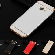 Bumper / Husa 3 in 1 Luxury pentru Samsung Galaxy A3 2017 / A5 2017 / A7 2017 - Husa Telefon, Negru