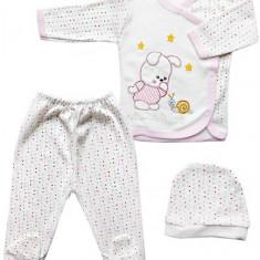 Costum bebelusi 3 piese cu buline COD HB68, Marime: 3-6 luni