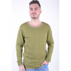 Bluza Bumbac Only&Sons Lodur Crew Neck Olive Branch
