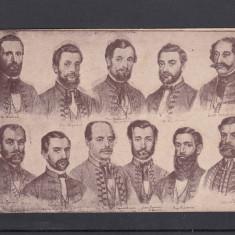 DEPUTATII ROMANI IN PARLAMENTUL DIN BUDAPESTA LA 1861 - Carte postala tematica, Necirculata, Printata