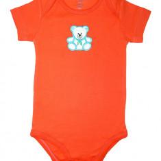 Body Carters portocaliu cu ursulet BD209, Marime: 9-12 luni