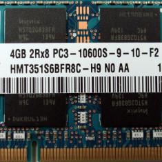 Ram laptop 2Rx8 Hynix 4GB 10600 DDR3 1333Mhz HMT351S6BFR8C-H9 PC3 1.5V Sodimm - Memorie RAM laptop