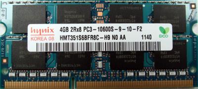 Ram laptop 2Rx8 Hynix 4GB 10600 DDR3 1333Mhz  HMT351S6BFR8C-H9 PC3 1.5V Sodimm foto