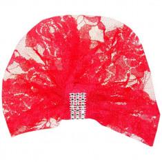 Turban elegant din dantela rosie TUR15