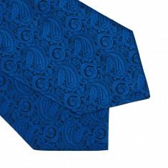 Cravata albastra esarfa Berger - Esarfa Barbati